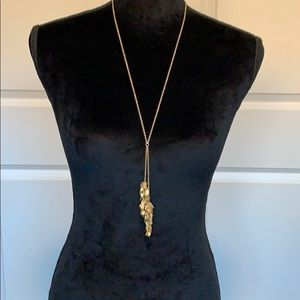 J. Crew Jewelry - J CREW Long Gold Leaves Necklace